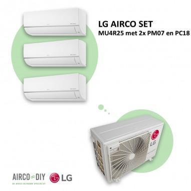 LG AIRCO set  MU4R25 met 2 x PM07 en...