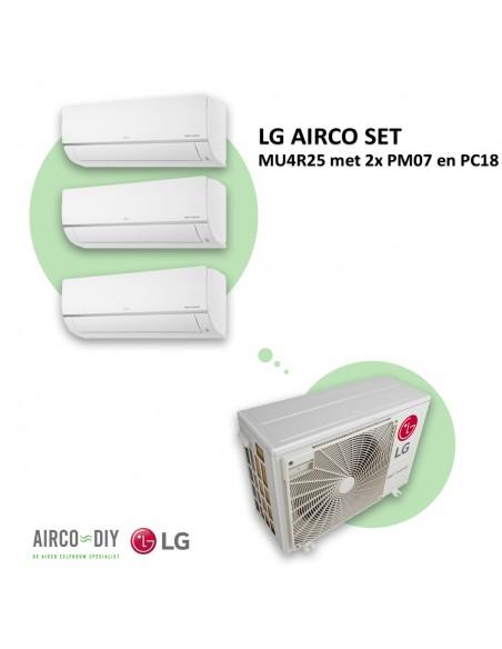 LG AIRCO set  MU4R25 met 2 x PM07 en PC18