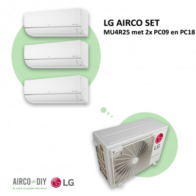 LG AIRCO set  MU4R25 met 2 x PC09 en...