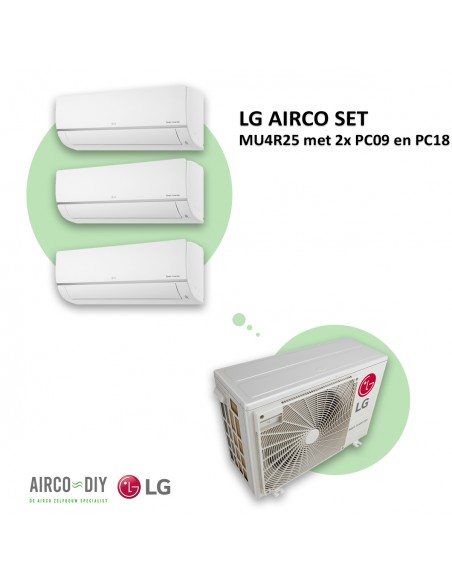 LG AIRCO set  MU4R25 met 2 x PC09 en PC18