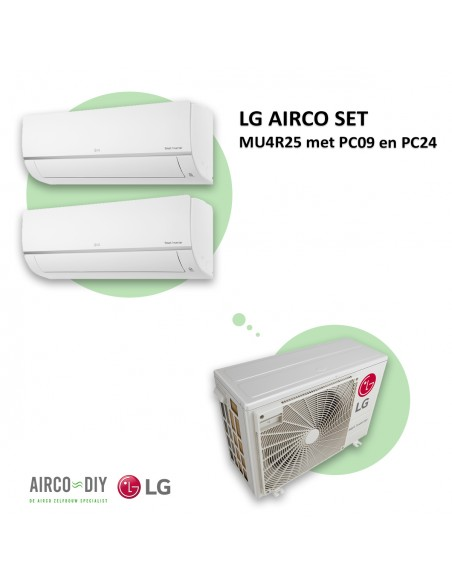 LG AIRCO set  MU4R25 met PC09 en PC24