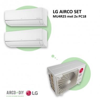 LG AIRCO set  MU4R25 met 2 x PC18