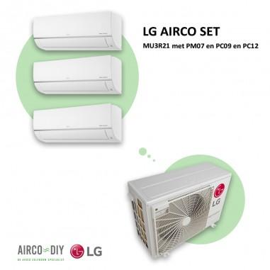 LG AIRCO set  MU3R21 met PM07 en PC09...