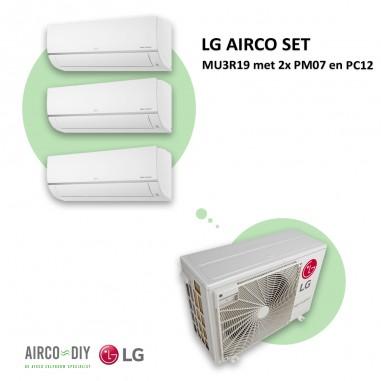 LG AIRCO set  MU3R19 met 2 x PM07 en...