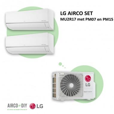 LG AIRCO set  MU2R17 met PM07 en PM15