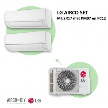 LG AIRCO set  MU2R17 met PM07 en PC12
