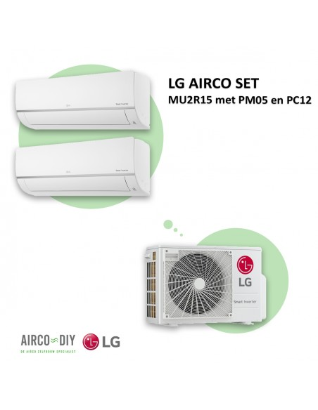 LG AIRCO set MU2R15 met PM05 en PC12