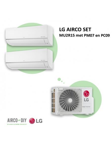 LG AIRCO set MU2R15 met PM07 en PC09