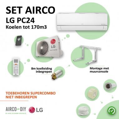Set Airco LG PC24 WiFi Single Split...