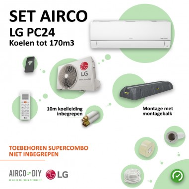 Set Airco LG PC24 WiFi Single Split...