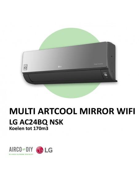 LG AC24BQ  NSK Multi Artcool Mirror WiFi wandmodel