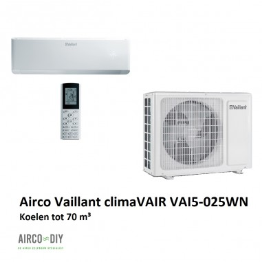 Airco climaVAIR VAI5-025WN single...
