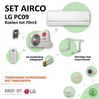 Set Airco LG PC09 WiFi Single Split...