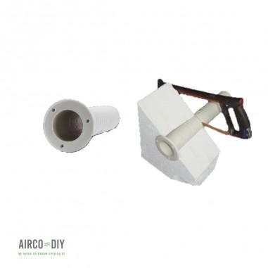 Muurdoorvoer voor koelleiding airco