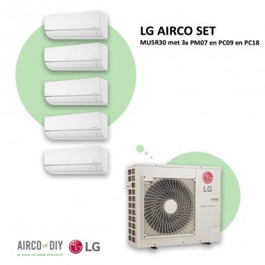 LG AIRCO set  MU5R30 met 3 x PM07 en...