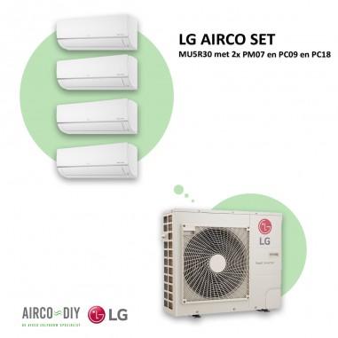 LG AIRCO set  MU5R30 met 2 x PM07 en...