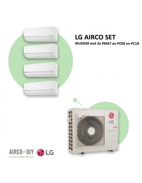LG AIRCO set  MU5R30 met 2 x PM07 en PC09 en PC18