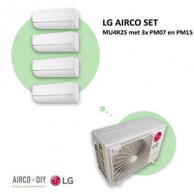 LG AIRCO set  MU4R25 met 3 x PM07 en...